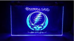 B247 Grateful Dead логотип пивной бар паб 3d вывески из светодиодов неоновый свет знак домашнего декора ремесла от Поставщики логотипы