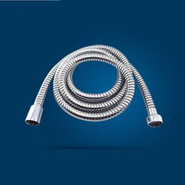 Wholesale Flexible Shower - Stainless Steel Chrome Shower Hose Bathroom Replacement Anti Twist Hoses Safety Water Flexible Pipe Tube Explosion Proof 3 95gy A