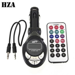 Wholesale universal lcd remote control - 3.5mm AUX Car MP3 Player Wireless FM Transmitter Bluetooth LCD USB SD MMC Remote Control Foldable Car MP4 MP3 FM Modulator Player