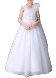 Wholesale Girls Chiffon Pearl Dress - LKOMARKET Children dress skirt long flower girl dress trailing bitter fleabane bitter fleabane skirt