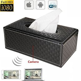 Wholesale Tissue Box Dvr - HD 1080P Spy Hidden Camera H.264 Wireless Wi-Fi IP Cam Tissue Box Covert Cam Security DVR