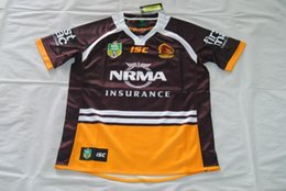Wholesale Best Stock Shorts - NRL National Rugby League Brisbane Home red Rugby jersey broncos best quality New in stock 2017 brisbane rugby shirts