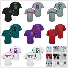 6a74f294f mlb jersey 2017 cheap newest 51 randy johnson arizona diamondbacks  throwback men cool base baseball
