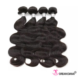thick brazilian virgin hair Coupons - Brazilian Body Wave Cheap Brazilian Hair Weaves Body Wave Unprocessed Virgin Hair Thick Bundles Human Hair Bundles 4Pcs  Lot Factory Price