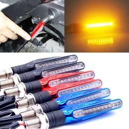 Wholesale Honda Led Lamp - 4 PCS Universal 12V 1.3W Super Bright Motorcycle Motorbike LED Turn Signal Indicators Amber Blinker Light Lamp