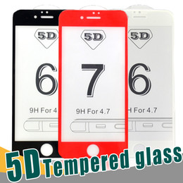 Wholesale Quality Wholesale Iphone Screens - Top Quality 4D 5D 9H Full Screen Tempered Glass Protector Hardness Anti-Scratch Film Protectors For iPhone X 8 7 6 6S Plus With Package