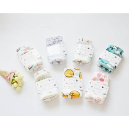 Wholesale Diaper Gauze - Baby four layers of gauze diaper pants waterproof Diaper Baby can wash the urine pants cotton diaper baby pants
