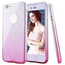 Wholesale Cover Change - Fashion Gradual Change Color Glitter Ultra Thin Case TPU Soft Defender Cases Cover For iPhone 7 6S 6 5 5S Plus Sumsung S8 S7 Plus Edge J7