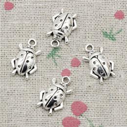 Wholesale beetle pendant - 155pcs Charms beetle bug 17*11mm Antique Silver Pendant Zinc Alloy Jewelry DIY Hand Made Bracelet Necklace Fitting