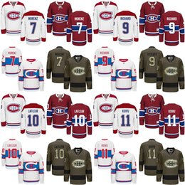 Wholesale Nylon Guy - 2017 men Montreal Canadiens 9 Maurice Richard 7 Howie Morenz 11 Saku Koivu 10 Guy Lafleur Hockey Jerseys Stitched.