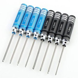 Wholesale Screw Hex Rc - Hex 4pcs Screw driver Tools Kit Set for RC Helicopter Black Blue