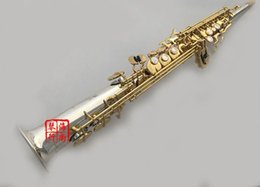 Wholesale Saxophone Free Shipping - wholesale Free Ship YANAGISAWA Soprano Saxophone S-9930 Bb Nickel Plated Gold Key Professional Sax Mouthpiece With Case and Accessories