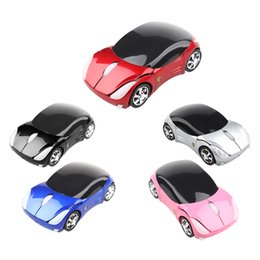Wholesale Mini Electronic Rechargeable Usb - Wholesale- Guaranteed Rechargeable 2.4GHz 1600DPI Mini Sport Car Shape Wireless Optical Mouse Mice USB Receiver Consumer Electronics
