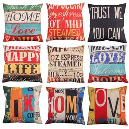 8 Styles 45x45cm Cotton Linen Quote Pillow Case Creative letters Pattern Day Gift Pillow case Throw Pillow Cover ? partir de fabricateur