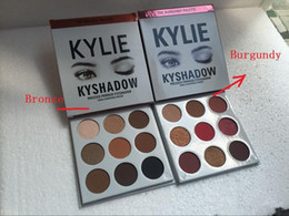 Wholesale Eyes Shadow Palette - THE BURGUNDY PALETTE | Kylie Cosmetics Jenner Kyshadow eye shadow Kit Eyeshadow BRONZE and BURGUNDY Palette Preorder Cosmetic 9 Colors