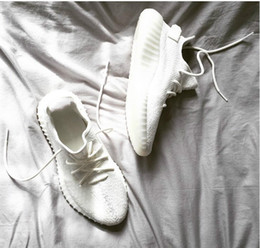Wholesale Cream White Boost V2 New SPLY Sports shoes All White Triple White V2 Running Shoes Kanye West Sneakers Men Women