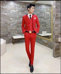 Wholesale Winter Fashion Mens Coat Navy - Mens Suits Slim Fit 3 Piece Wedding Prom Suits (Jacket+Vest+Pants) 2017 Fashion Modern Latest Coat Pants Design Patchwork Tuxedo