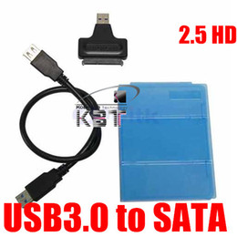 "Wholesale disk t - Wholesale- T 10pcs free shiping USB 3.0 to Sata Hard Disk Drive 2.5 inch 2.5"" HDD Enclosure Housing Cover Case"