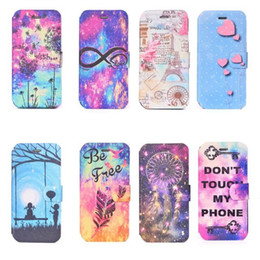 Wholesale Tower Case Stand - Fashion Lover Dreamcatcher Slot Holder Stand Wallet Leather For Iphone 7 Plus 6 6s SE 5 5S Heart TPU Card Flip Cover Case Eiffer Tower