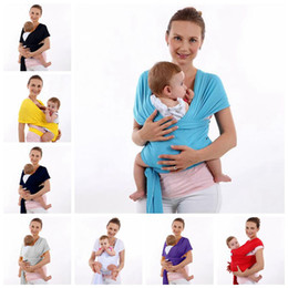 Wholesale Front Backpack - Baby Solid Color Sling Carrier Cover Backpack Breathable Hipseat Nursing Cover Soft Baby Wrap Children Hipseat 8 Colors OOA3436