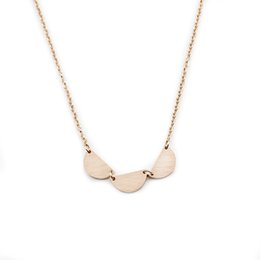 Wholesale Three Circles Pendant - Wholesale 10Pcs lot 2017 New Promotion Stainless Steel Jewelry Pendant Rose Gold Three Half Circles Gold Chains Choker Necklaces For Women
