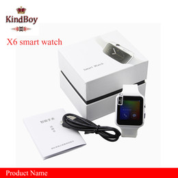 Wholesale email watch - Smartwatch Curved Screen X6 Smart watch bracelet Phone with SIM TF Card Slot with Camera for Samsung android smartwatch