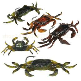 faux leurres de pêche Promotion 5pcs / lot 10cm 30g leurres de pêche doux appâts artificiels crabe avec des hameçons tranchants Jigging leurre mer créature attaquer faux appât livraison gratuite