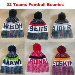 Wholesale Cheap Sport Beanies - Wholesale New Season American L Beanies All Football Teams Beanies Mens Sports Beanies Cheap Warm Women Knitted Hats More 5000+ Styles