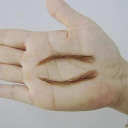Wholesale Eyebrow Human - Wholesale- Eyebrow Pencil Powder 2016 Makeup Sets Kit 003 Hand Made Human Hair False   Fake Eyebrows,permanent Eyebrows,tattoos Eyebrows