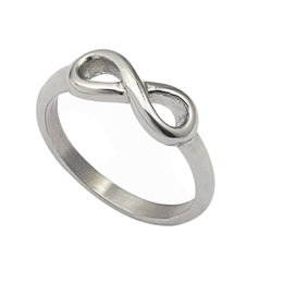 Wholesale Stainless Steel Infinity Ring - Infinity Symbol figure 8 Words Valentine's Day Wedding Fashion steel silver Exquisite Noble Cute Bow tie Ring For Women Girls