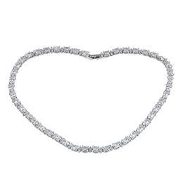 88fbb90d65e2 Mujeres Collar Blanco Con Cristal AAA Circón Calidad Superior 18KT Oro  Blanco Lleno Collares Llamativos Mejor Amigo Regalos
