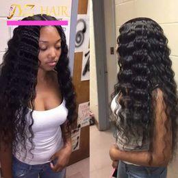 melhor onda profunda das perucas do laço Desconto JYZ Glueless Peruca Cheia Do Laço Onda Profunda Brasileira Cheia Do Laço Perucas de Cabelo Humano Para As Mulheres Negras Melhor Peruca Dianteira Do Laço Com o Cabelo Do Bebê