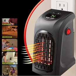 Wholesale Wall Electric Heaters - 2017 Christmas Wall-Outlet Electric handy Heater portable Air Heater Warm Air Blower Room Fan Electric Heaters Warmer for Office Home Hotel