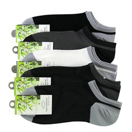 Wholesale Invisible Socks Bamboo Men - Wholesale- summer men's bamboo fibre invisible boat socks ankle socks male fashion sock slippers 10pcs=5pairs lot