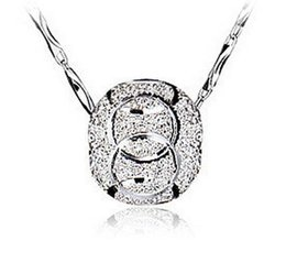 Wholesale Lovely Fashion Jewelry Wholesale - Women Pendant 925 sterling silver ball Fashion Silver Chain necklaces Jewelry Lovely Pendant Sterling Silver Jewelry 2017 HOT SALE