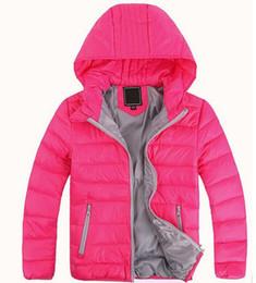 Chaquetas de ropa de las muchachas online-Ropa de abrigo para niños, niño y niña, invierno, abrigo cálido con capucha, ropa para niños, chamarras, chaquetas de niños, entre 3 y 12 años.