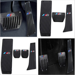 Wholesale Bmw E87 - Car-Styling High quality Aluminium Alloy Rest Gas pedal Brake Pedal for BMW X1 M3 E39 E46 E87 E84 E90 E91 E92 car accessories