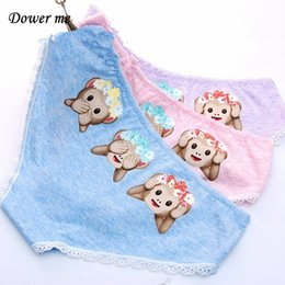 Wholesale Monkey Panties - Women Panties 6 pieces   lot Ladies Panties Monkey print Low-rise Cotton Girls Briefs Women Underwear 568