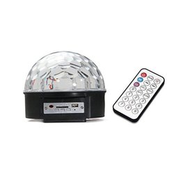 Wholesale Party Mp3 - S5Q LED MP3 DJ Disco Party Club DMX512 Crystal Magic Ball Stage 18W RGB Light AAADHU