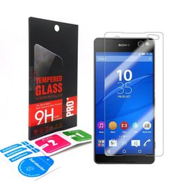 Wholesale Xperia Screen Protectors - 2.5D 0.3mm 9H Explosion-Proof Premium Tempered Glass Screen Protector Protection Guard For Sony Xperia E5 M6 C6 C5 XA Ultra Retail-box