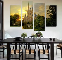 Wholesale photography modern - 2017 modern photography spray painting poster architecture landscape household adornment art canvas painting pictures