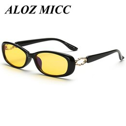 Wholesale computer blue glasses - ALOZ MICC Prevent Radiation Computer Men Woman Brand Designer Night Vision Glasses Top Night Sunglasses A315