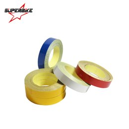 Wholesale yellow headlights - Car Sticker 1cm*5m Reflective Sheeting Tape Adhesive Film Reflect Auto Body Motorcycle Bike Vinyl Decal Style Decoration Film