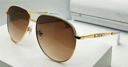Wholesale New Super Lens - New fashion women designer sunglasses metal super pilots framework top quality coating lens legs with diamond JEWLY