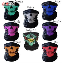 Wholesale Ride Hood - Halloween Skull Masks Outdoor Motorcycle Riding Half Face Mask Seamless Magic Rides Hoods Scarves Masks 1500pcs OOA2241