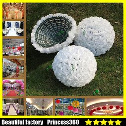 Wholesale Ball Bouquet - Wedding Rose balls 6~20Inch 15~50CM Silk Flower Kissing Balls Hanging rose Balls Wedding Party Decorations Artificial rose bouquet FL03