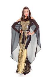 Wholesale Greek Costume Women - Women Gorgeous Egyptian Princess Queen Dress Halloween Cosplay Costume Sexy Greek Goddess Roman Empress Fancy Dress