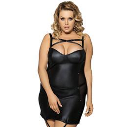 9b8636b9778 Wholesale full slip lingerie for sale - Women Nightdress Sexy Punk Full  Slips Fishnet Side See