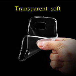 Wholesale Galaxy S4 Transparent - For Samsung Galaxy S3 S4 S5 S6 edeg S7 plus cases transparent soft clear TPU Back cover for Samsung note 3 4 protective sleeve