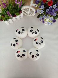 Wholesale Panda Ornament - The little panda soft bread The creative expression model of ultra realistic milk flavor